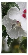 Rose Of Sharon And Bee Beach Towel