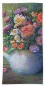 Rose Petal Tea Pot Beach Sheet