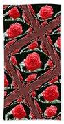 Rose Tiles Beach Towel