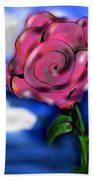 Rose Within The Clouds Beach Towel