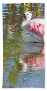 Roseate Spoonbill Young Adult Beach Towel