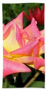 Roses And A Dahlia Beach Towel