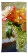 Roses And Crystal Beach Towel