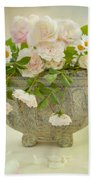 Roses And Daisys Beach Towel