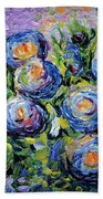 Roses Are Blue  Beach Towel