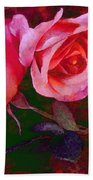 Roses Beautiful Pink Vegged Out Beach Towel