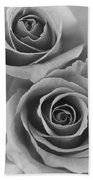 Roses Black And White Beach Towel