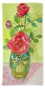 Roses For Dorothy Beach Towel