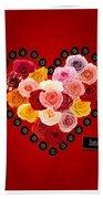 Roses For My Dear Love Beach Towel