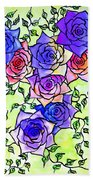 Roses Garden Beach Towel