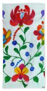 Roses In The Folk Style Beach Towel