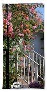 Roses In Winter Beach Towel by Susanne Van Hulst
