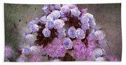 Roses Lilac And Shabby Pink Beach Towel