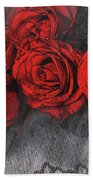 Roses On Lace Beach Towel