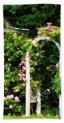Roses On Trellis Beach Towel