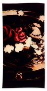 Rosses On A Flowing Dish Beach Towel