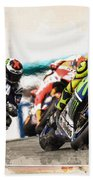 Rossi Leading The Pack Beach Towel
