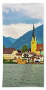 Rottach Egern On Tegernsee Architecture And Nature View Beach Towel