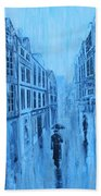 Rouen In The Rain Beach Towel