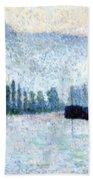 Rouen La Seine Et Les Collines Canteleu 1887 Beach Towel