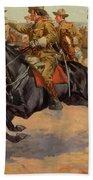Rough Riders Cavalry Beach Towel