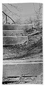 Rough Steps Up The Riverbank Beach Sheet