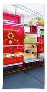 Round Top Vol. Fire Co. Inc. New York 7 Beach Towel