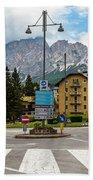 Roundabout Cortina D'ampezzo  Beach Towel