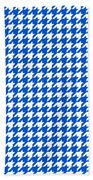 Rounded Houndstooth White Pattern 18-p0123 Beach Towel