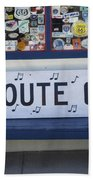Route 66 Bench Beach Towel