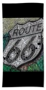 Route 66 Digital Stained Glass Beach Towel