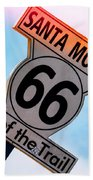 Route 66 End Of The Trail Beach Towel by Michael Hope