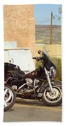 Route 66 - Grants New Mexico Motorcycles Beach Towel