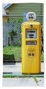 Route 66 - Illinois Gas Pumps Beach Towel
