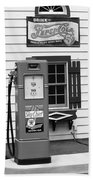 Route 66 - Illinois Vintage Pump Bw Beach Towel
