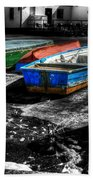 Row Boats At Mudeford Beach Towel