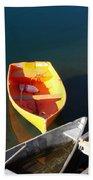 Rowboats In Rockport, Ma Beach Towel