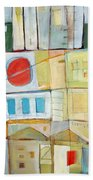 Rowhouse No. 2 Beach Towel
