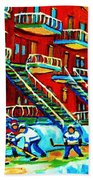 Rowhouses And Hockey Beach Towel