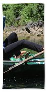 Rowing Boat With Legs, Tam Coc  Beach Towel