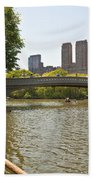 Rowing In Central Park Beach Towel