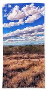 Rows Of Clouds Over Sonoran Desert Beach Towel