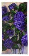 Royal Blue Hydrangea Beach Towel