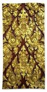 Royal Palace Gilded Door 02 Beach Towel