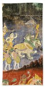 Royal Palace Ramayana 08 Beach Towel