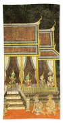 Royal Palace Ramayana 18 Beach Towel