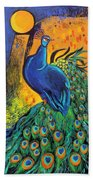 Royal Peacock Beach Towel