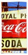 Royal Phcy Coke Sign Beach Towel