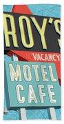 Roy's Motel Cafe Pop Art Beach Towel