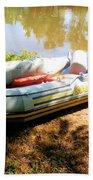 Rubber Boat 1 Beach Towel